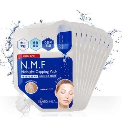 [美迪惠尔] 可莱丝 N.M.F水润保湿免洗睡眠面膜1/5/10 p袋装