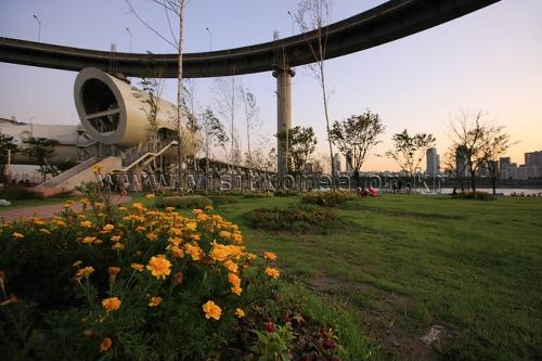汉江市民公园纛岛地区
